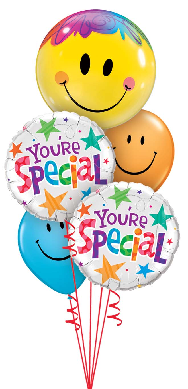 get well birthday thank you congratulations balloons bouquets rh skysthelimitbaskets com Excited Smiley Clip Art Happy Clip Art